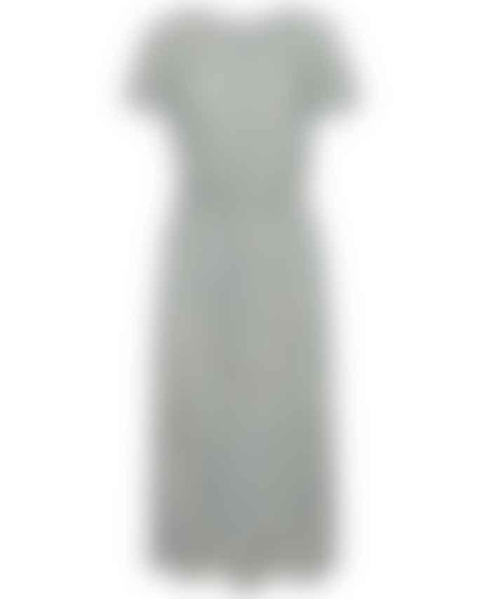 ICHI Unique Striped Jersey Dress