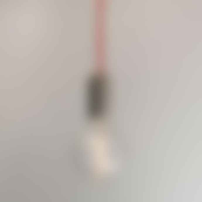 NUD Collection Concrete Pendant Lamp Set Red Cord