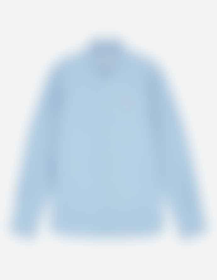 Maison Kitsune Chambray Fox Head Embroidery Classic Shirt