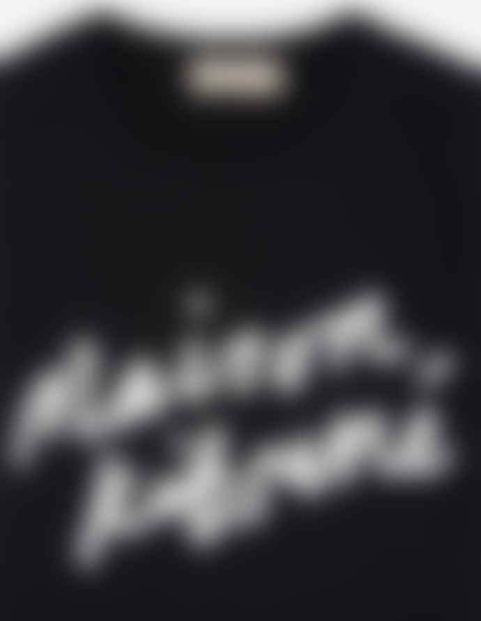 Maison Kitsune Handwriting T Shirt Black