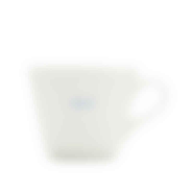 Make International Medium White Standard Bucket Mug with Blue Genius Text