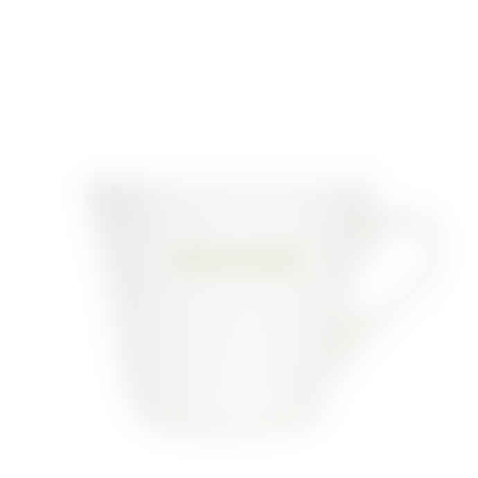 Make International Medium White Standard Bucket Mug with Green Good Morning Text
