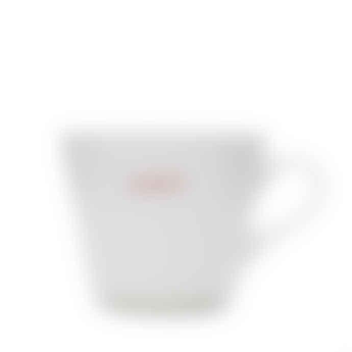 Make International Medium White Standard Bucket Mug with Red Gorgeous Text