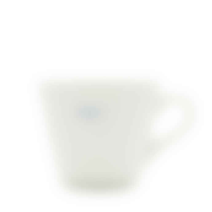 Make International Medium White Standard Bucket Mug with Blue Happy Text