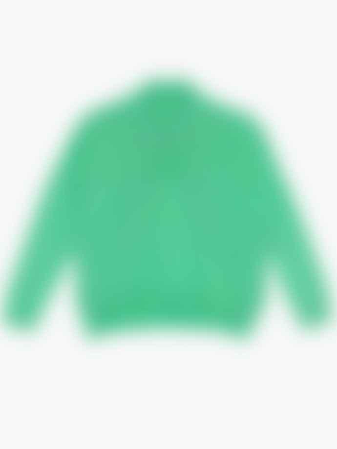 Ganni Wool Knit Oversized Jumper Island Green