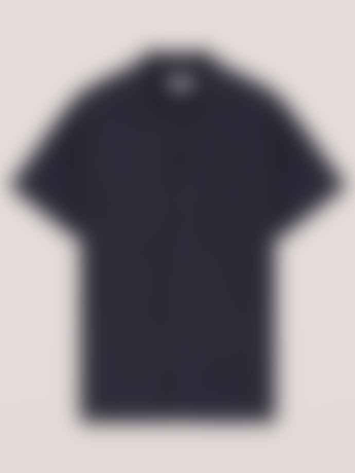 YMC Linen Malick Shirt In Navy