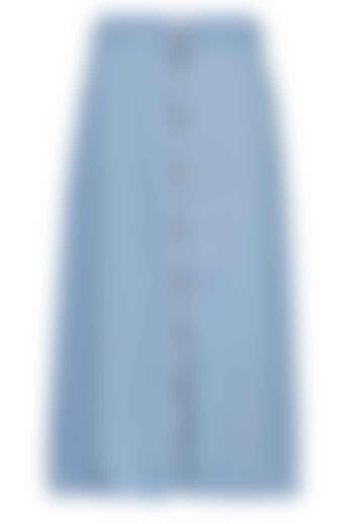 Numph Light Blue Nuahna Skirt