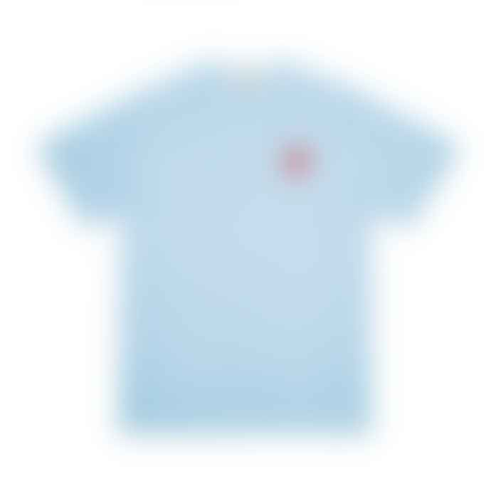 Comme Des Garcons Play Bright Red Heart T Shirt Blue P1T272