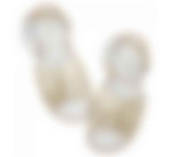 Salt-Water Retro Gold Leather Sandals