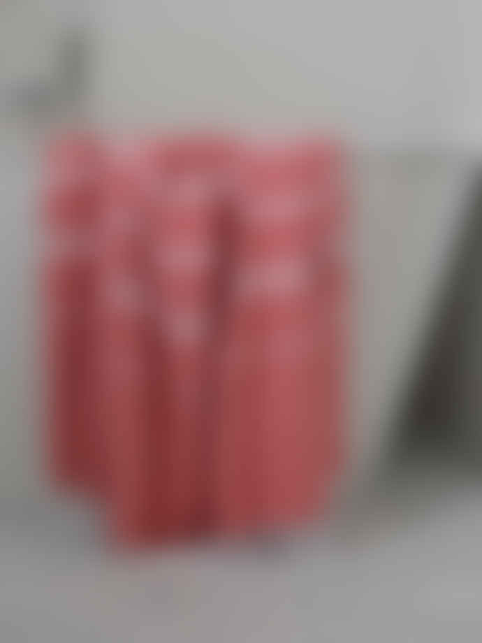Ottomania 220cm Brick Red and White Hammam Towel