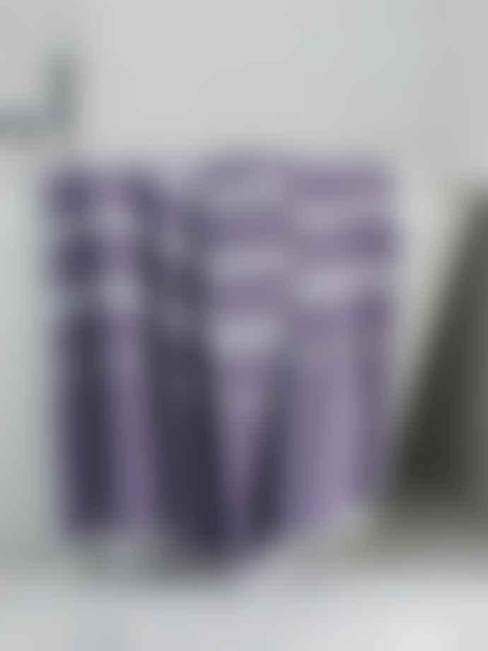 Ottomania 220cm Dark Purple and White Hammam Towel