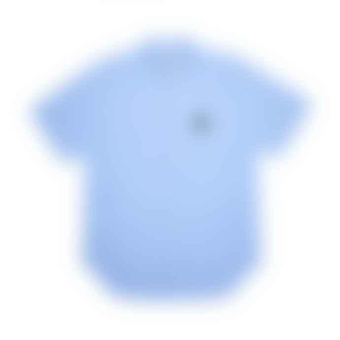 Comme Des Garcons Play Striped Short Sleeve Shirt Light Blue P1B022