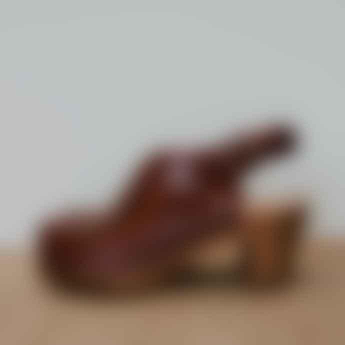 kitty clogs Garnet Leather Mid Kliva 958 Oxblood Clogs