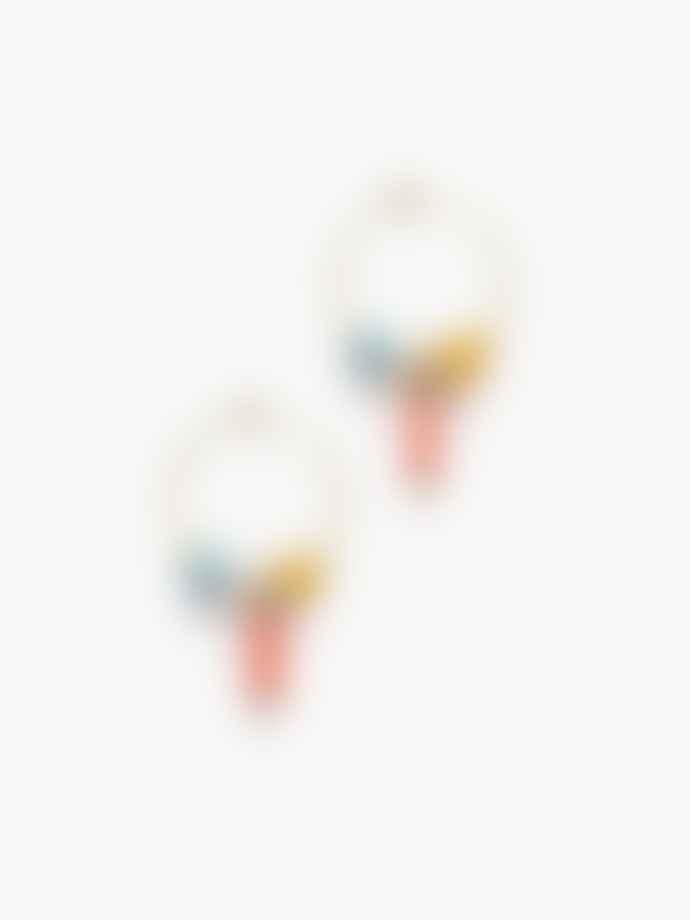 Anni Lu Papaya Punch Sun Dance Hoop Earrings