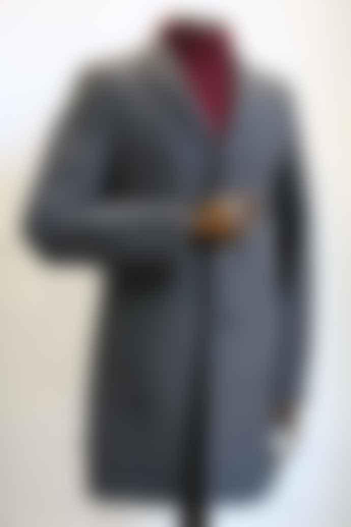 Remus Uomo Raeburn Grey Overcoat