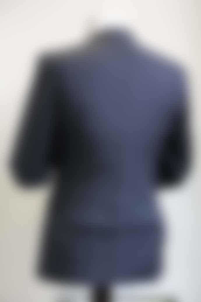 Remus Uomo Lazio Navy Marl Check Jacket
