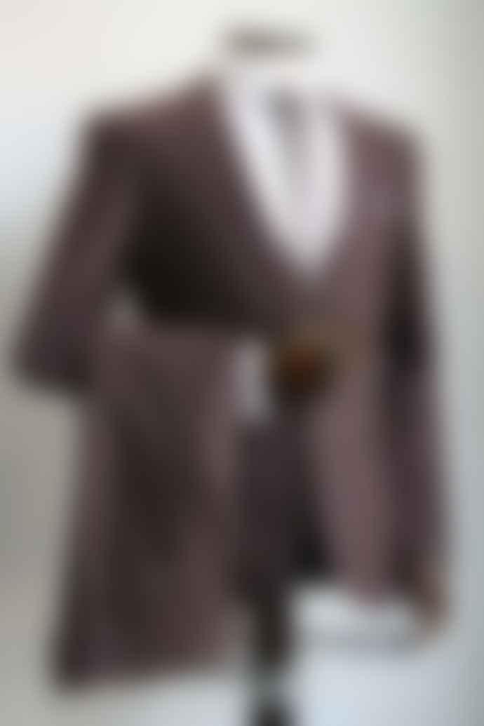Remus Uomo Lazio Burgundy Grey Trousers