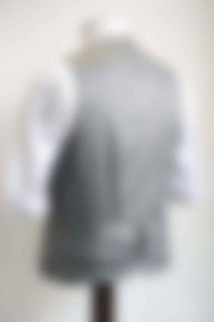 Remus Uomo Lazio Burgundy Grey Waistcoat