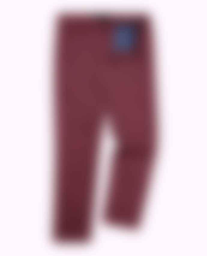 Remus Uomo Elio Maroon Tailored Chino Trousers