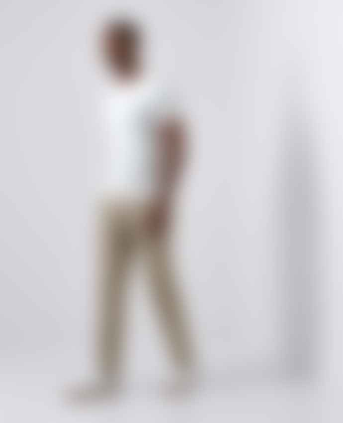 Remus Uomo Elio Beige Tailored Chino Trousers