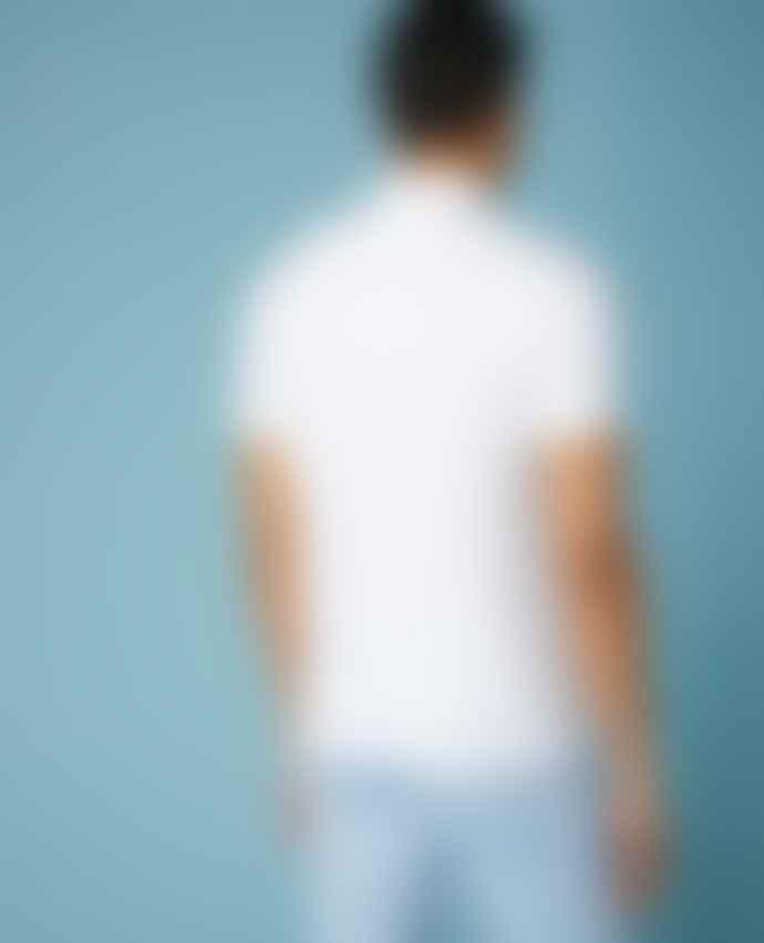 Remus Uomo White Textured Collar Polo Shirt