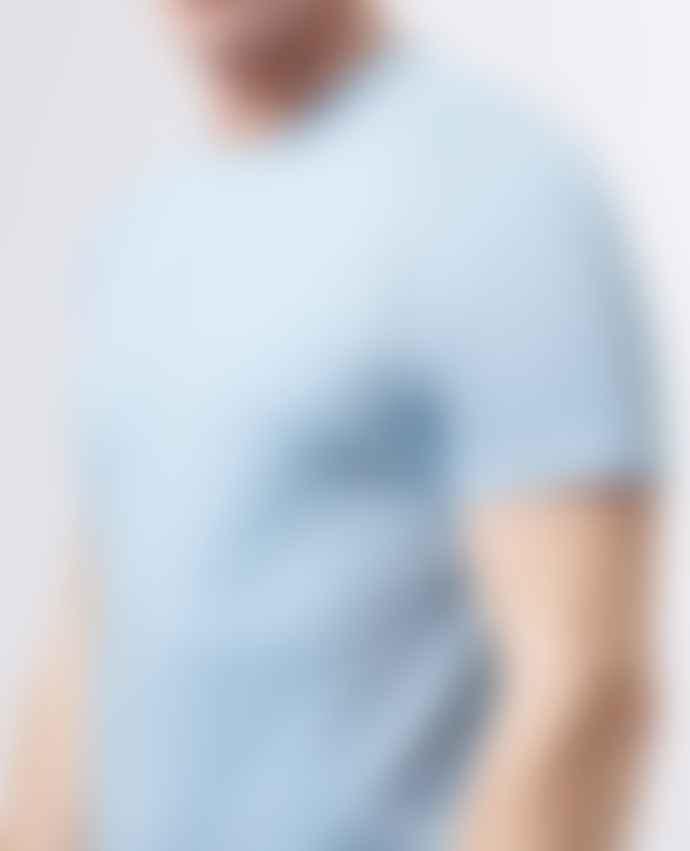 Remus Uomo Pastel Blue Crew Neck T Shirt
