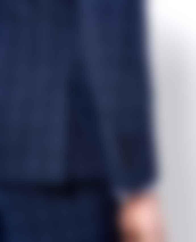 Remus Uomo Lazio Navy With Blue Windowpane Check Suit Trousers