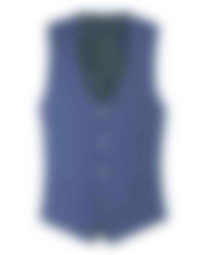 Remus Uomo Lovati Airforce Blue Suit Waistcoat