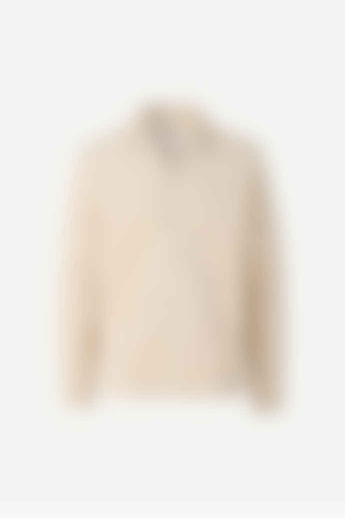 SamsoeSamsoe Beige Organic Corduroy Verner Overshirt