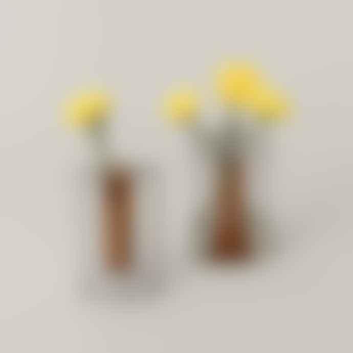 Block Design Small Reversible Vase Grey Orange