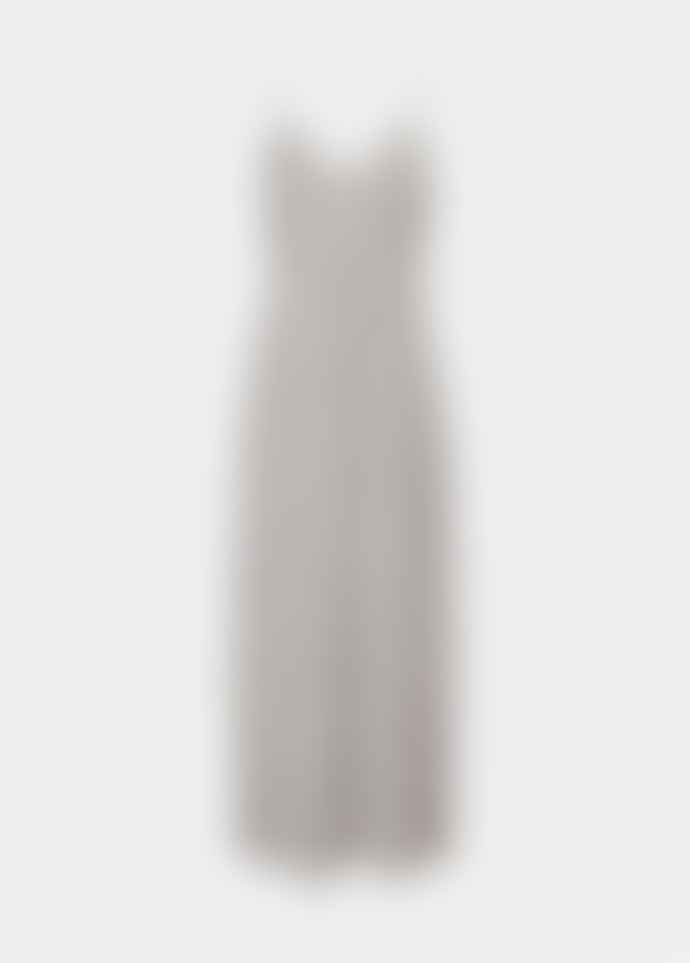 Essentiel Antwerp Grey and Off White Polka Dot Veva Long Slip Dress