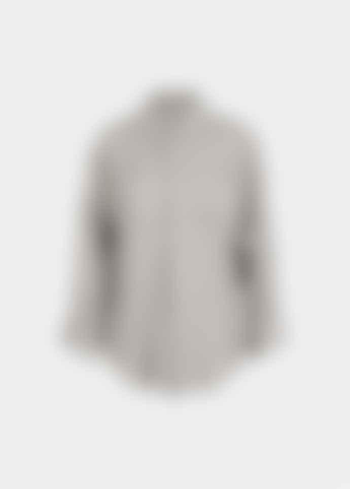 Essentiel Antwerp Grey and Off White Polka Dot Viral Shirt