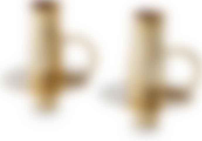 Vtwonen Gold Bottle Candle Holders
