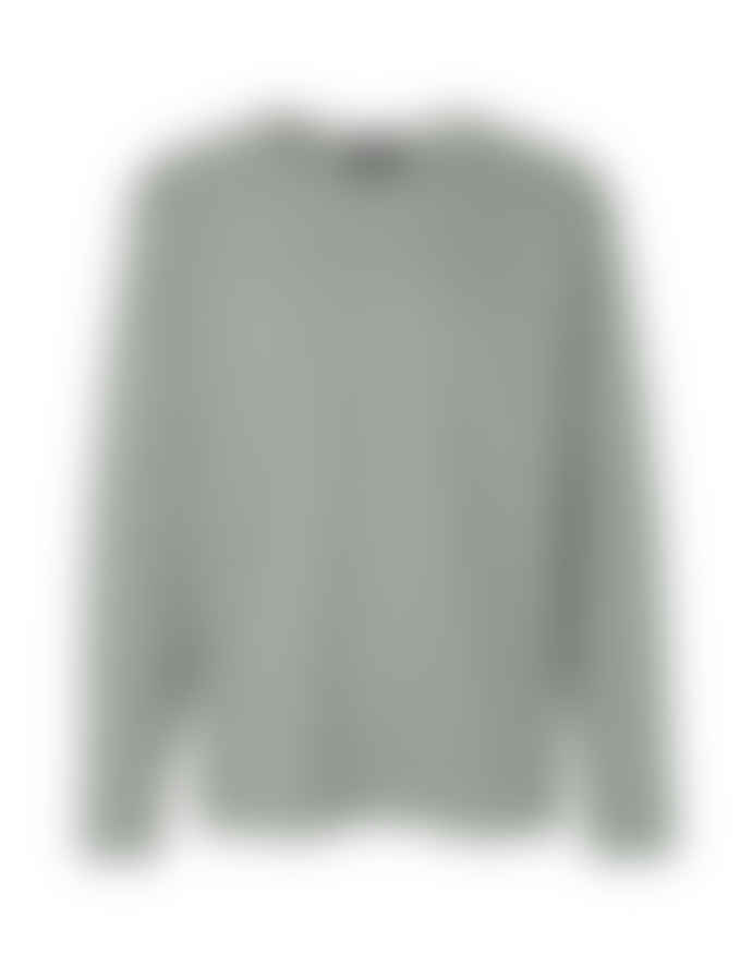 Mads Norgaard Picasso Card in Sea Spray and White Alyssum Sweat Shirt