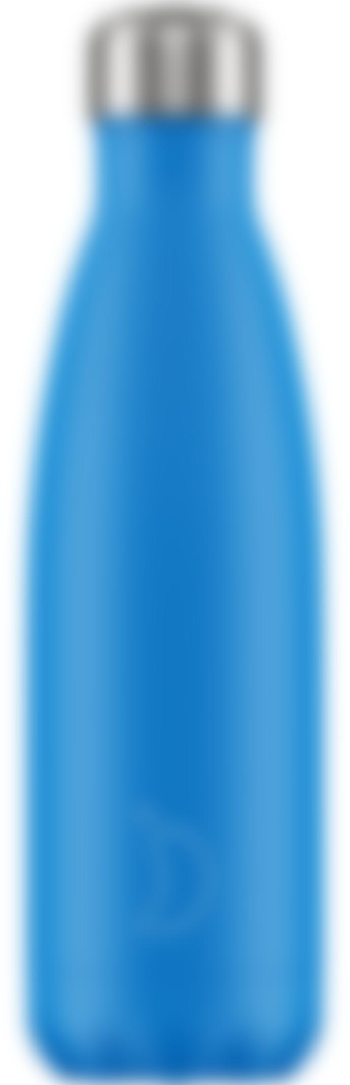 Chilly's Bottles 0.5 l Neon Blue Clima Bottle