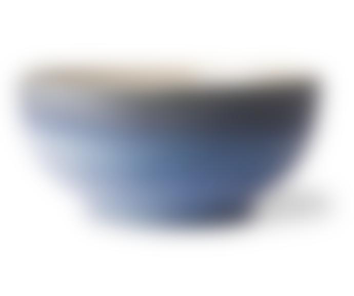 HKliving ceramic 70's salad bowl blue