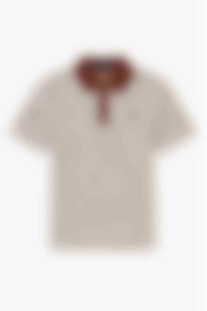 Fred Perry Vertical Striped Tennis Shirt Auburn