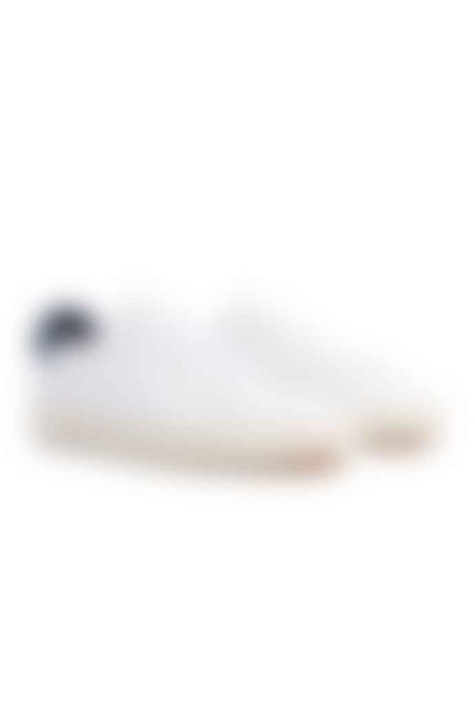 Clae White Bradley Leather Trainers