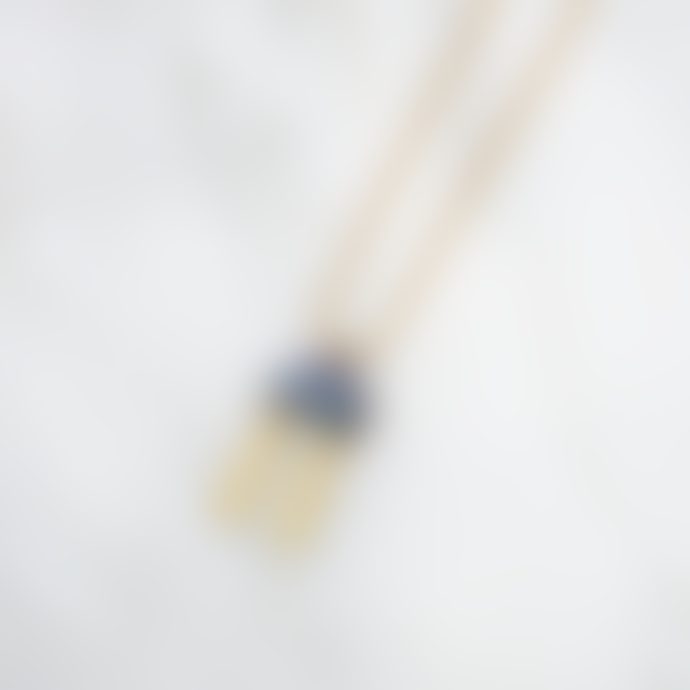 Wolf & Moon Cecilie Necklace in Blue Mother of Pearl