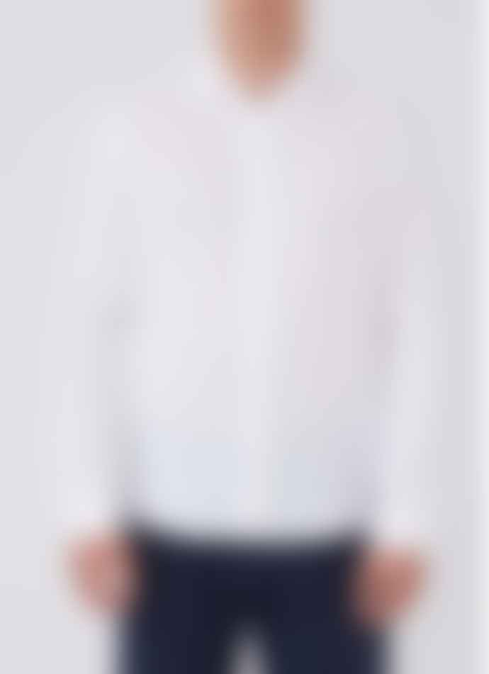 Sunspel Long Sleeve Shirt White