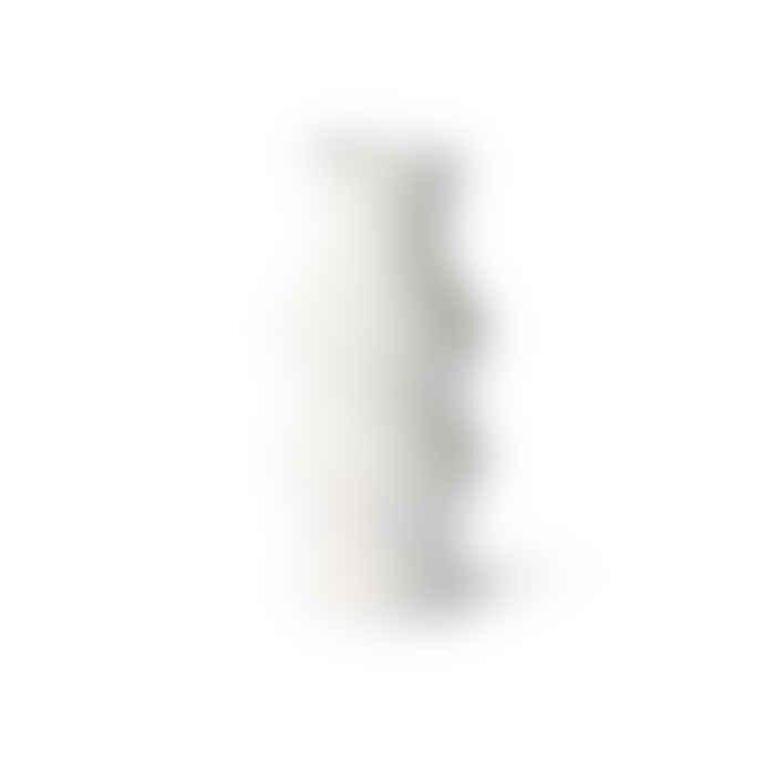HKliving Offwhite Angular Speckled Clay Vase