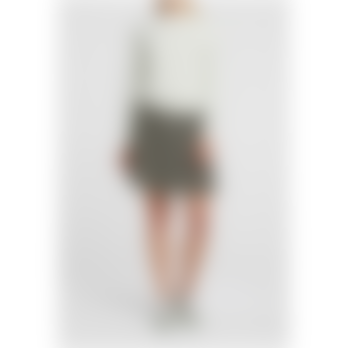 Yaya Pleated Mini Skirt Olive