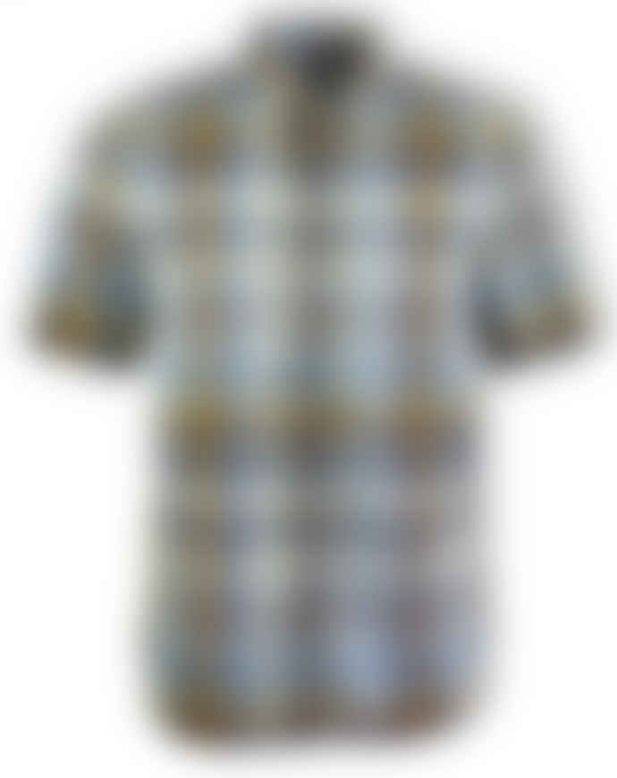 Fred Perry Tartan Short-Sleeved Shirt (Golden)