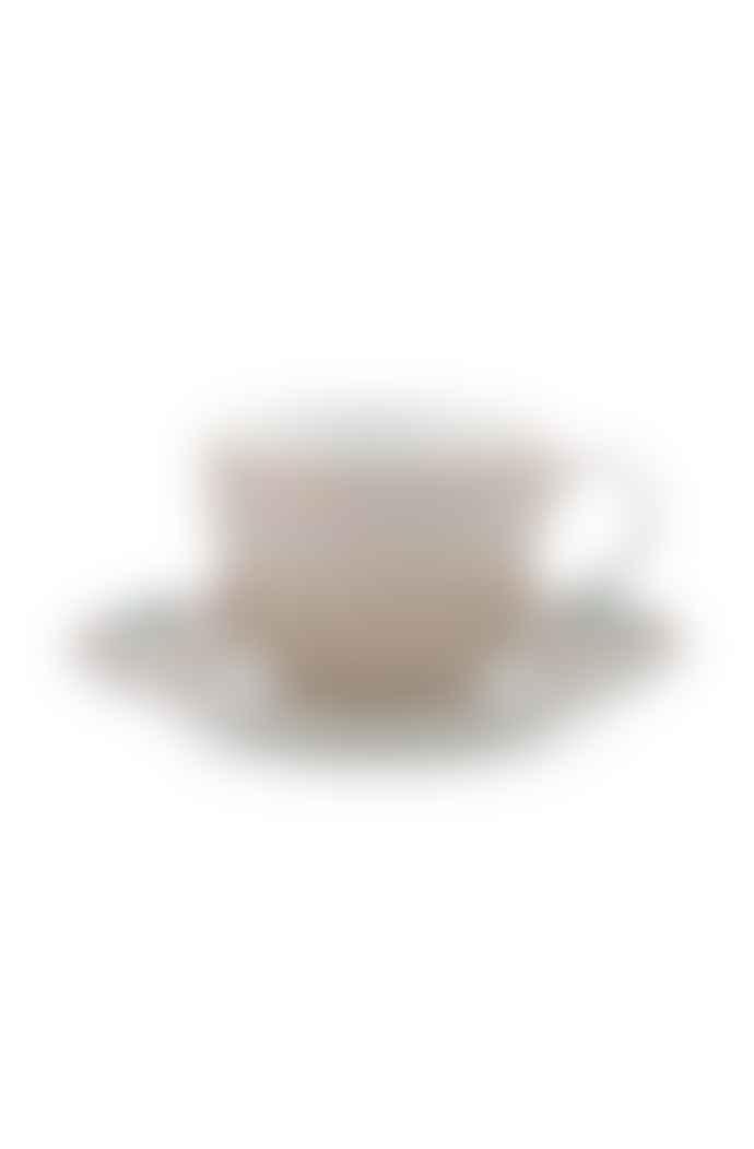 Pip Studio Set of 2 Khaki Blushing Birds Espresso Cups and Saucers