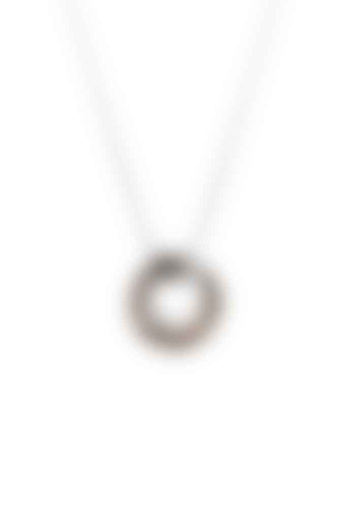 Tutti & Co Silver and Marble Tropic Necklace