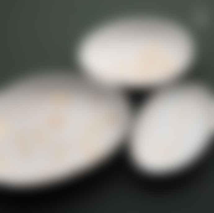 Rader Set of 3 Porcelain Garden Gold Wonderland Trinket Bowl