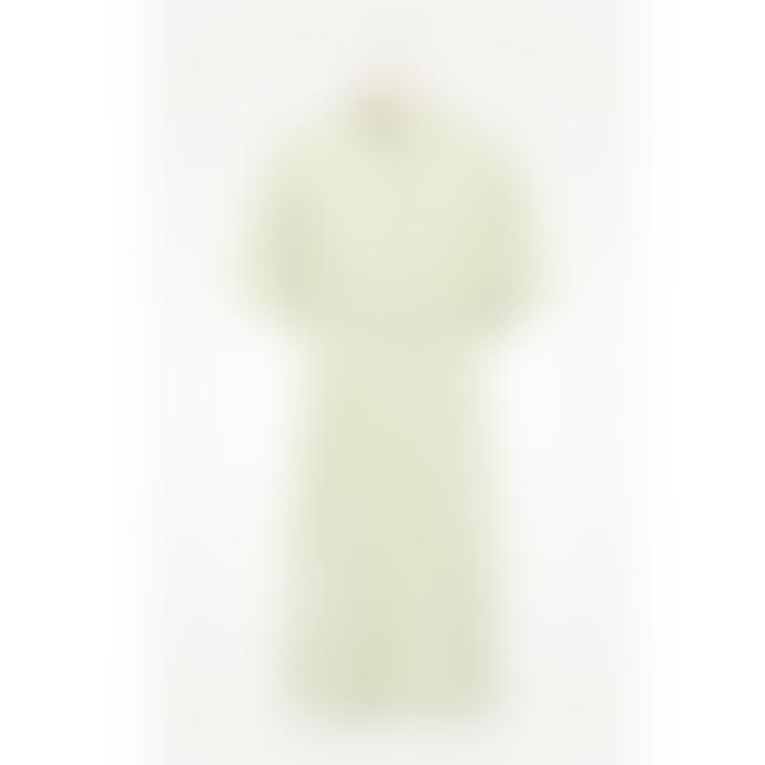 American Vintage RIK108 Striped Cotton Dress in Sage