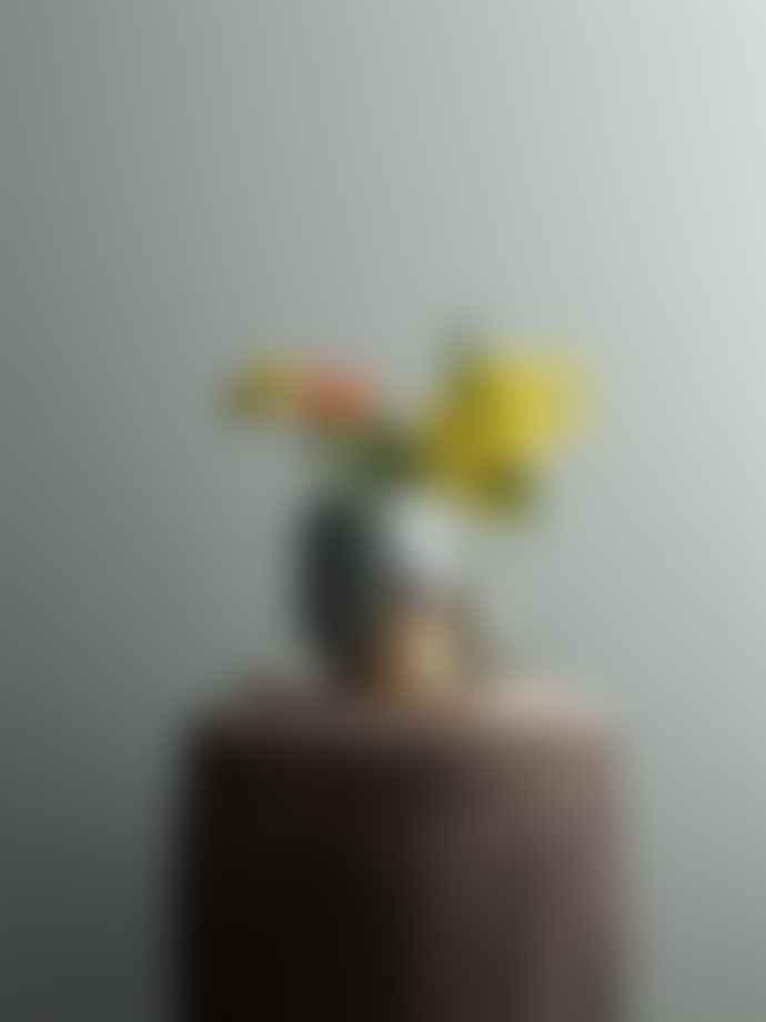 Bloomingville Candlestick Orange Stoneware