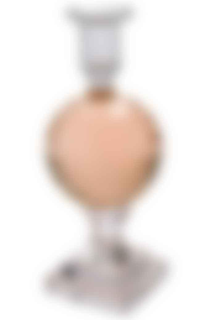 eja international glass candle holder rosa polished high