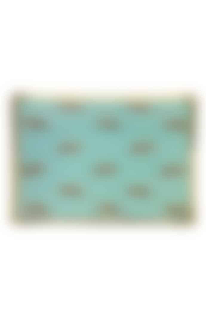 The Sue Parkinson Home Collection Leopards Trinket Tray In Teal And Gold